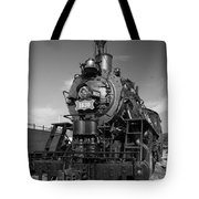 Old Steam Engine Black And White Tote Bag