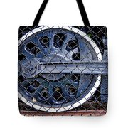 Old Steam Engine -train Wheels Tote Bag