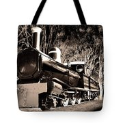 Old Steam Train Tote Bag