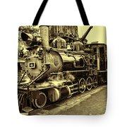 Old Steam Train Tote Bag