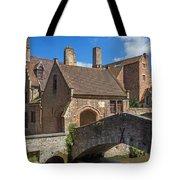 Old Stone Bridge In Bruges  Tote Bag