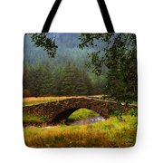 Old Stone Bridge Over Kinglas River. Scotland Tote Bag