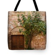 Old Stone House With Plants  Tote Bag