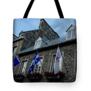 Old Stone Houses In Quebec City Canada  Tote Bag