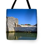 Old Stone Walls Of Nin Town Tote Bag