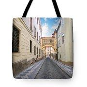Old Street In Prague Tote Bag