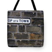 Old Street Sign Tote Bag