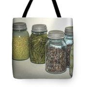 Old Style Vintage Kitchen Glass Jar Canning Tote Bag