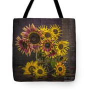 Old Sunflowers Tote Bag