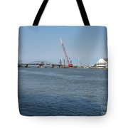 Old Swing Bridge Chincoteague Tote Bag