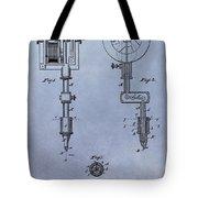 Old Tattoo Gun Patent Tote Bag