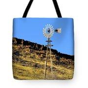 Old Texas Farm Windmill Tote Bag