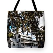 Old Thursby Plantation House Tote Bag
