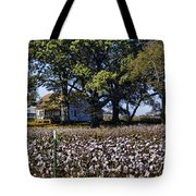 Old Time Farm And Cotton Fields Tote Bag