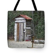 Old Time Outhouse And Pitcher Pump Tote Bag