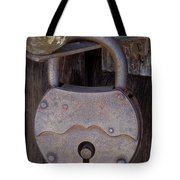 Old Time Padlock Tote Bag