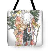 Old Time Santa With Teddy Tote Bag