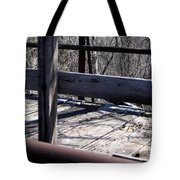 Old Timey Foot Bridge Tote Bag