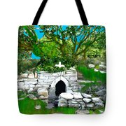 Old Tomb In The Countryside Ireland Tote Bag