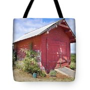 Old Tool Shed Red Barn Tote Bag