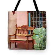 Old Town Albuquerque Shop Window Tote Bag