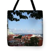 Old Town And Harbor - Tallinn Tote Bag