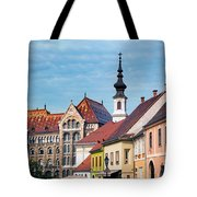 Old Town Buildings In Budapest Tote Bag