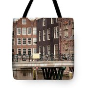Old Town In Amsterdam Tote Bag