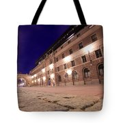 Old Town In Stockholm At Night Tote Bag
