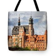 Old Town Of Gdansk In Poland Tote Bag