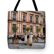 Old Town Of Seville In Spain Tote Bag
