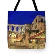 Old Town Of Split At Dusk Croatia Tote Bag