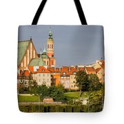 Old Town Of Warsaw Skyline Tote Bag