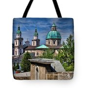 Old Town Salzburg Austria In Hdr Tote Bag by Sabine Jacobs