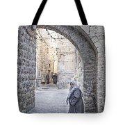 Old Town Street Of Jerusalem Israel Tote Bag