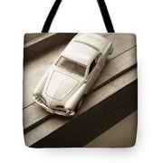 Old Toy Car On The Window Sill Tote Bag