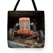Old Tractor Face Tote Bag by Gary Heller