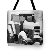 Old Tractor In The Snow Tote Bag