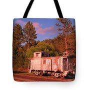 Old Train Caboose Tote Bag