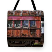 Old Train Car Tote Bag