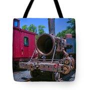 Old Train Engine Tote Bag