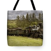 Old Train Steam Engine At The Fort Edmonton Park Tote Bag