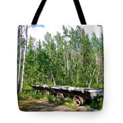 Old Tramway In Canyon City  Miles Canyon Trail Near Whitehorse-yk Tote Bag