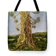 Old Tree In Spring Light Tote Bag