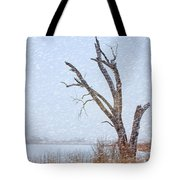 Old Tree In Winter Tote Bag