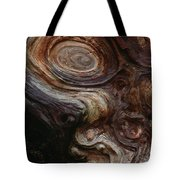 Old Tree Trunk With Knots And Patterns  Tote Bag