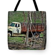 Old Truck At Rest Tote Bag