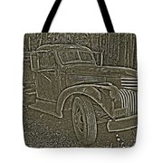 Old Truck In Sepia Tote Bag