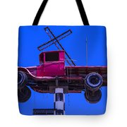 Old Truck With Cross Tote Bag