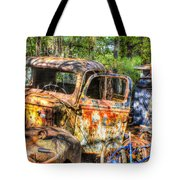 Old Trucks And Old Bicycles Tote Bag